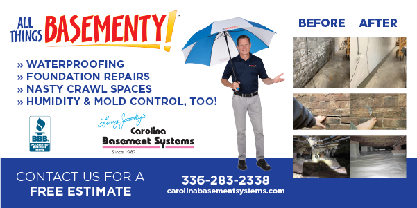 Carolina Basement Systems graphic ad
